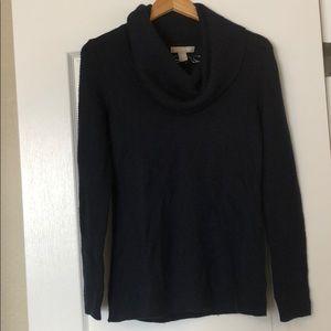 Navy cowl neck sweater